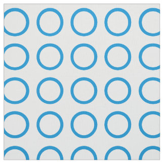 Summer Blue Rings on White Fabric