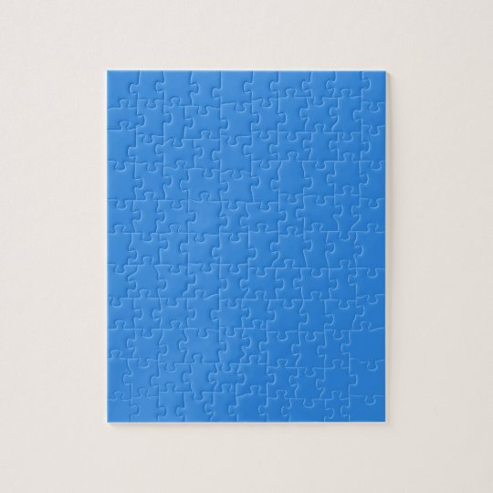 Summer Blue Simple One Colour Challenging Jigsaw Puzzle