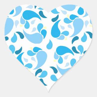Summer Blues Heart Sticker