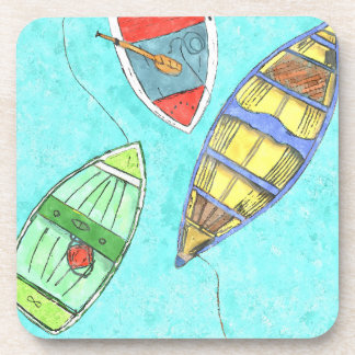 Summer Boats at Rest Coasters