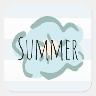 Summer Boho Flower Square Sticker