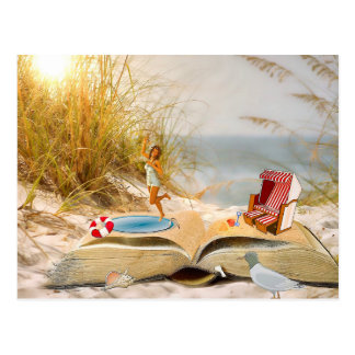 Summer Books - Customize Me! Postcard