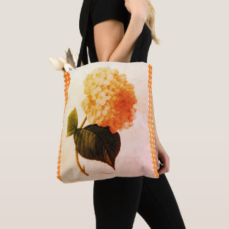 Summer_Botanical-Art_Checks_Floral-Totes-Bags Tote Bag