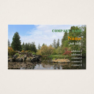 Summer botanical garden in Vancouver Business Card