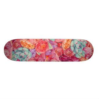 Summer bouquet custom skateboard
