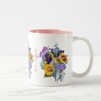 Summer Bouquet - Great Grandma Two-Tone Coffee Mug
