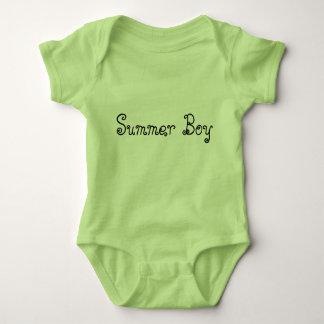 Summer Boy Typography Baby Boy Bodysuit Lime