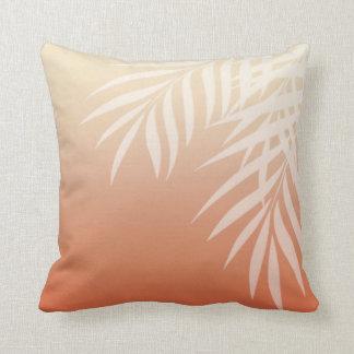 Summer Breeze Ombre Palm Fronds | peach Throw Pillow