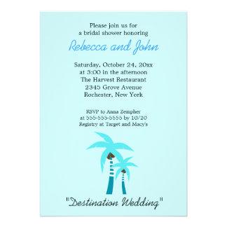 Summer Breeze Palm Tree 5x7 Bridal Shower Invite