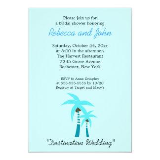 "Summer Breeze Palm Tree 5x7 Bridal Shower Invite 5"" X 7"" Invitation Card"