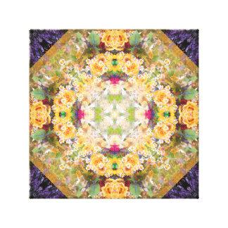 Summer Bridal Bouquet Mandala Canvas Print