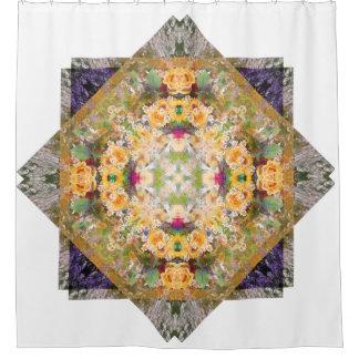 Summer Bridal Bouquet Mandala Shower Curtain