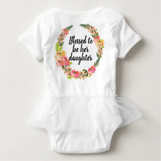 Summer Bright Bouquet Tutu Baby Bodysuit