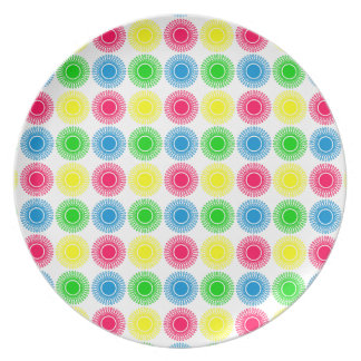 Summer Bright Bursts on White Plate