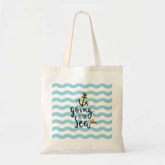 Summer Budget Tote with beautiful sea elements