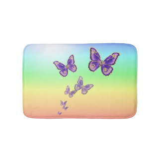 Summer Butterflies. Bathroom Mat