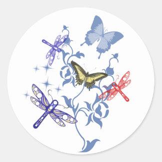 Summer Butterflies Classic Round Sticker