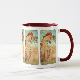 Summer by Alphonse Mucha Mug