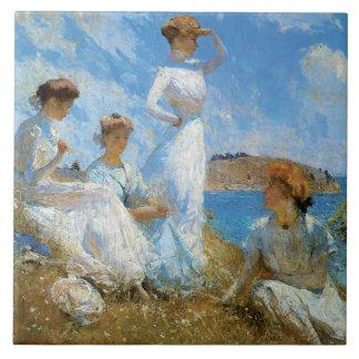 Summer, by Frank W. Benson Tiles