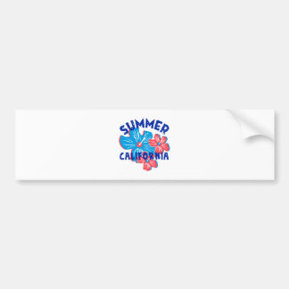 summer california bumper sticker