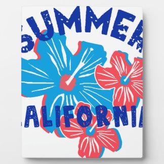 summer california plaque