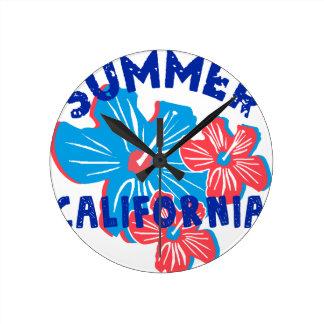 summer california round clock
