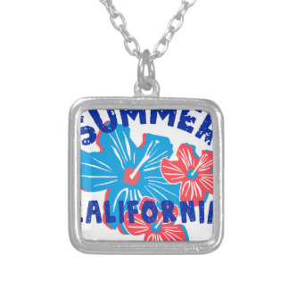 summer california silver plated necklace