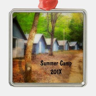 Summer Camp Cabins Metal Ornament