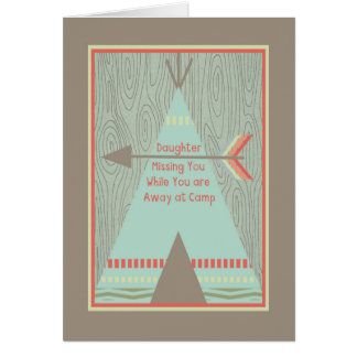 Summer Camp Card to Daughter with Green Tent