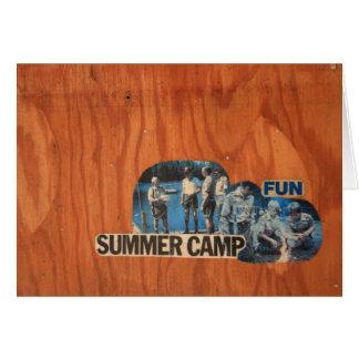 Summer Camp Fun Card