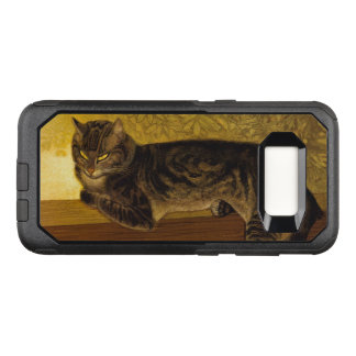 Summer Cat on Balustrade Art Nouveau OtterBox Commuter Samsung Galaxy S8 Case
