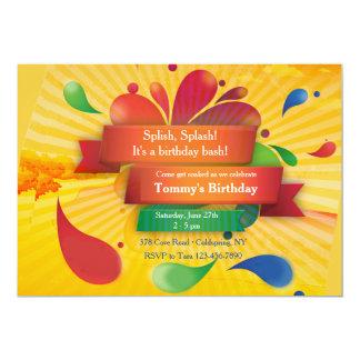 "Summer Celebration 5"" X 7"" Invitation Card"