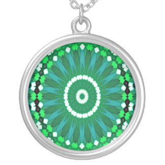 Summer Celebration (green) Silver Plated Necklace