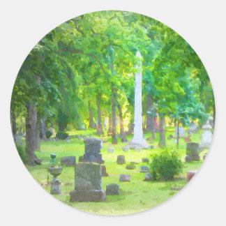 Summer Cemetery Classic Round Sticker