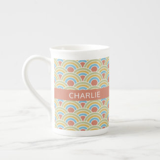 Summer Circles Pattern custom name mugs