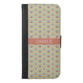 Summer Circles Pattern custom name phone wallets