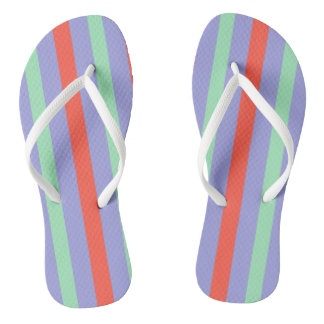 Summer circus top stripes flip flops