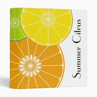 Summer Citrus Avery Binder