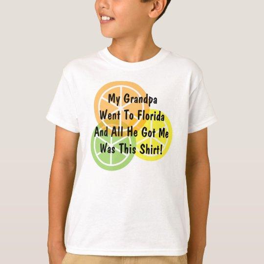 Summer Citrus - Grandpa Went To Florida - T-Shirt