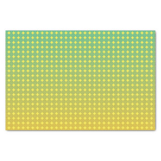Summer Citrus Green and Orange Ombre Pattern Tissue Paper
