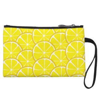 Summer Citrus Lemon Bagettes Wristlet