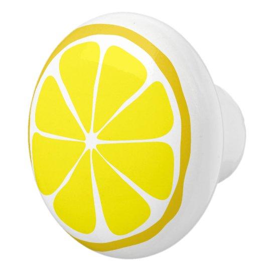 Summer Citrus Lemon Ceramic Knob