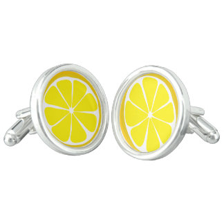 Summer Citrus Lemon Cufflinks