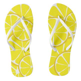 Summer Citrus Lemon FlipFlops Flip Flops
