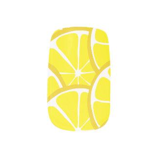 Summer Citrus Lemon Slices Nail Art
