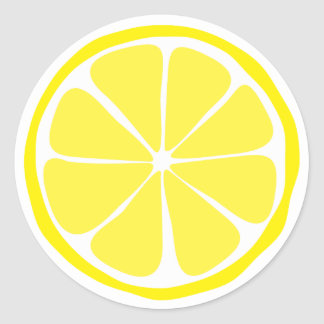 Summer Citrus Lemon Stickers