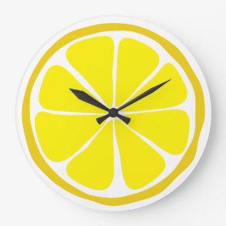 Summer Citrus Lemon Wall Clock