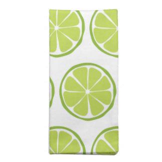 Summer Citrus Lime Cloth Napkins (Set of 4)