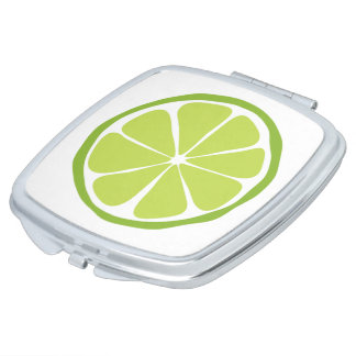Summer Citrus Lime Compact Mirror