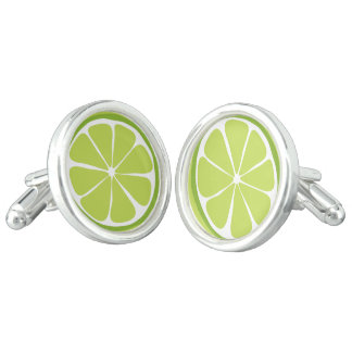Summer Citrus Lime Cufflinks